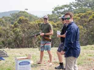 Clay pidgeon shooting