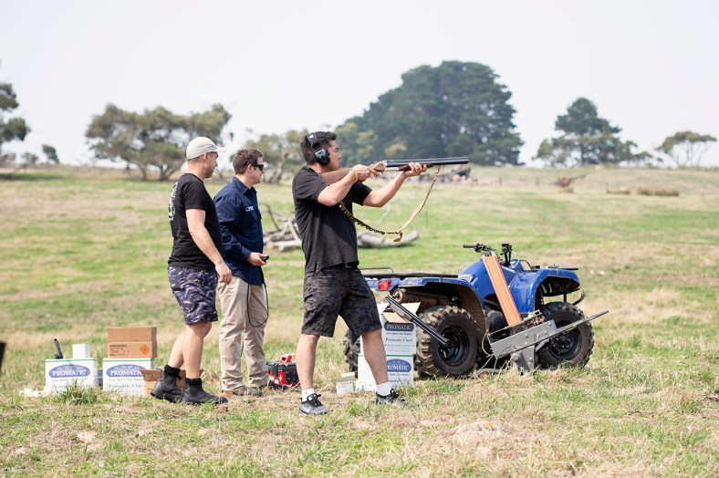 Out shooting before the wedding