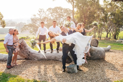 Silly bridal party photo