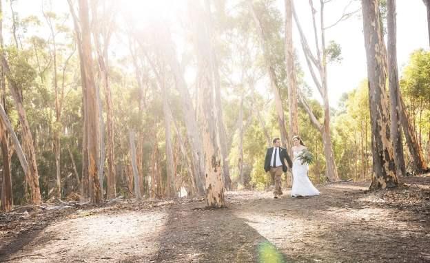 Belair National Park wedding photo