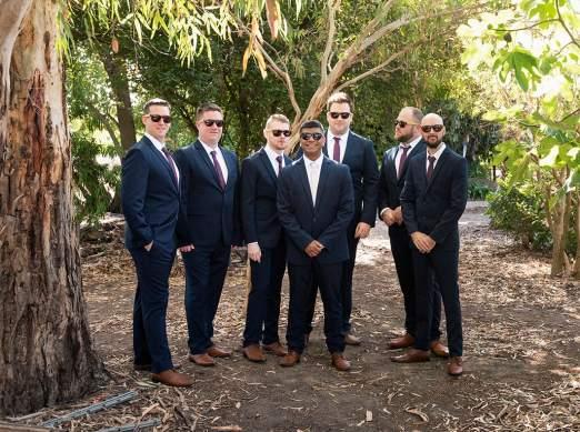 Bunch of groomsmen