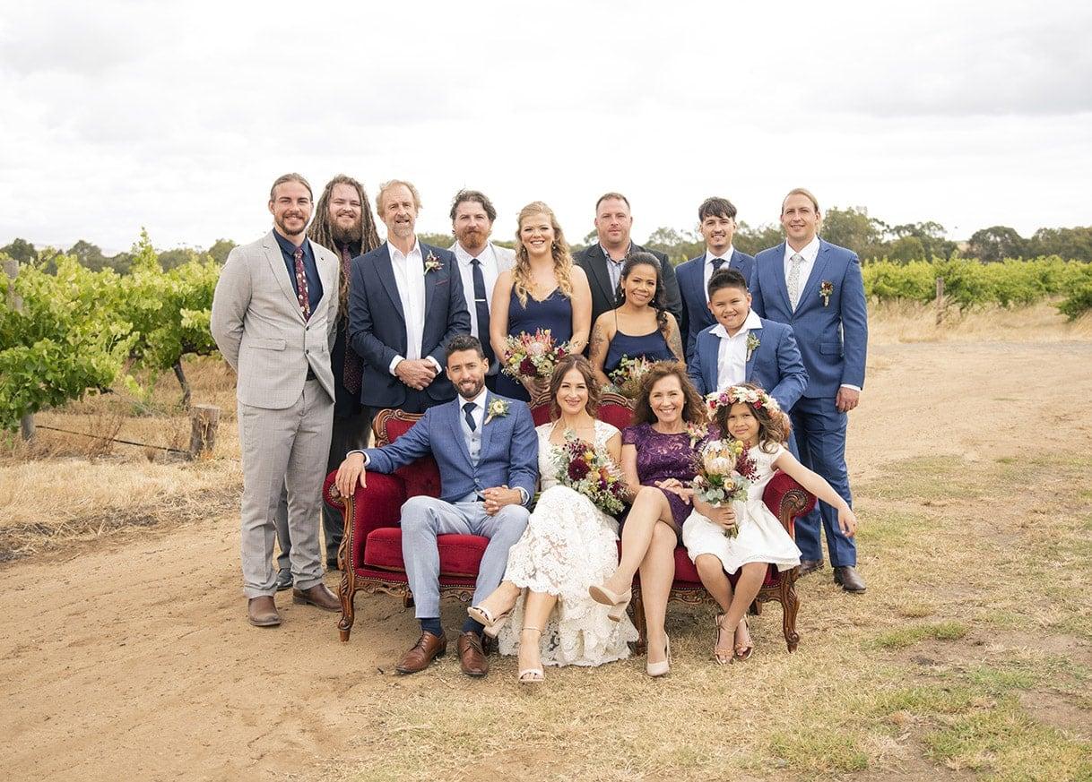 group photo at Ekhidna Winery