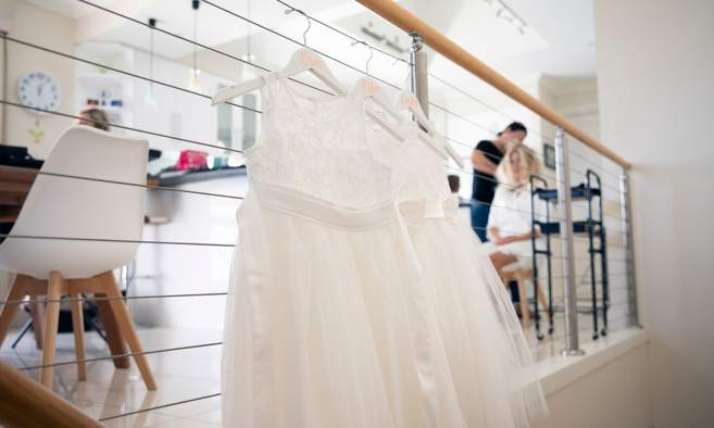 Hanging flower girl dresses
