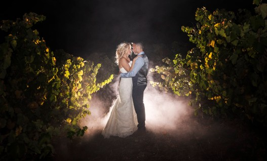 Paxton Winery wedding night shot