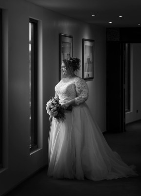 Bride looking pretty at the Lakes Resort Hotel