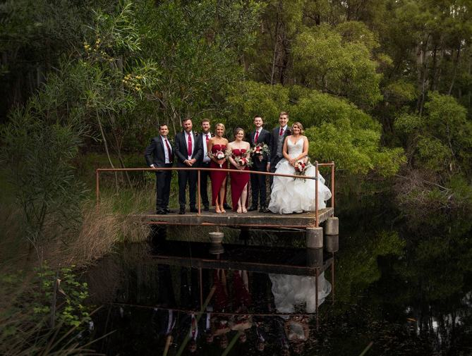 Bridal party at Idyll & Co