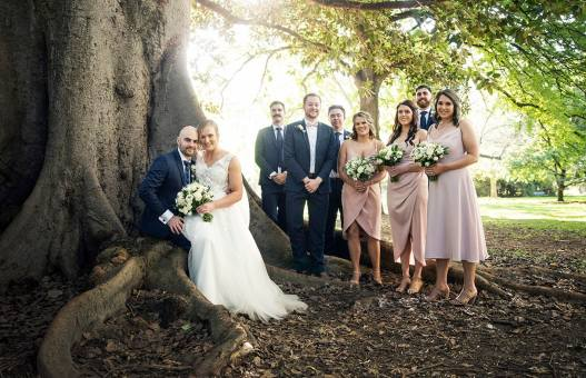 Bridal party in the Adelaide Botanic Park