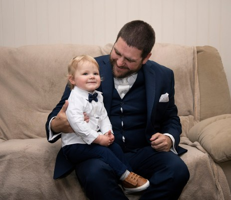 Groom and little one