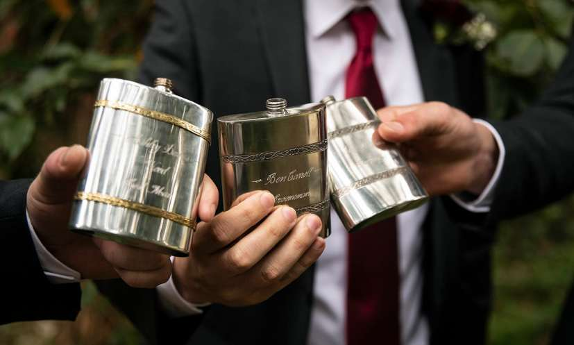 groomsmen flasks
