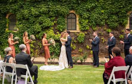 Seppeltsfield winery wedding ceremony photo