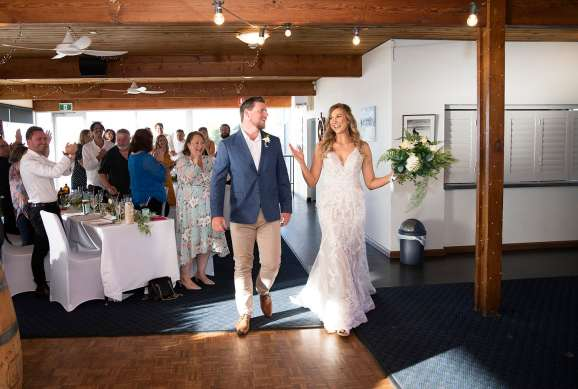 bridal entrance at Yacht club