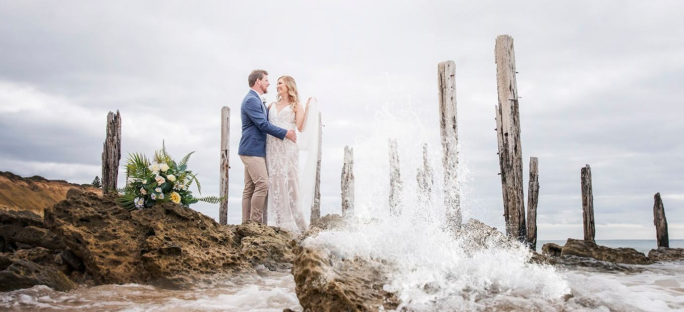 pt willunga jetty wedding photo