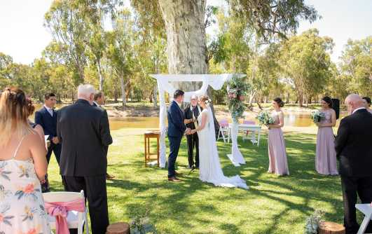 Serafino wines wedding ceremony