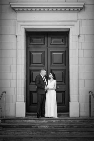Museum of Economic Botany doorway wedding photo
