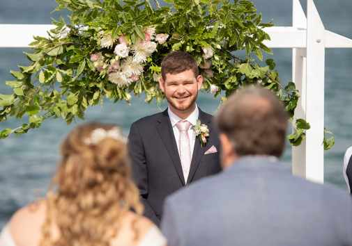 Grooms first glimpse