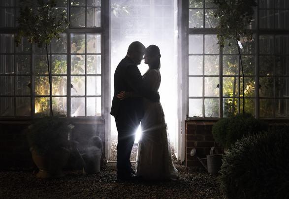 Wedding photo in the alru farm greenshouse