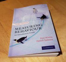 Boken Measuring behaviour – An Introductory Guide. Av Paul Martin & Patrick Bateson. Third Edition.
