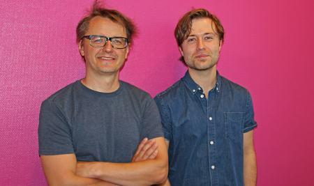 Christer Nerfont och Oskar Nilsson. Foto: Jenni Jansson/Sveriges Radio.