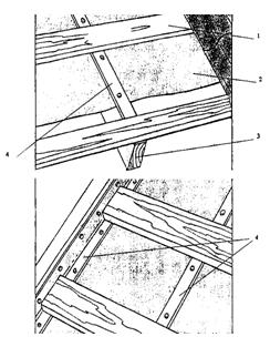 Устройство кровельного покрытия из профилированного листа для общественных и жилых зданий, имеющих уклон ската кровли от 15-30°