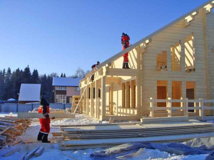Зимнее строительство. (Пример)