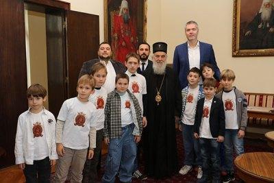 Деца Свете Србије у посети Патријарху