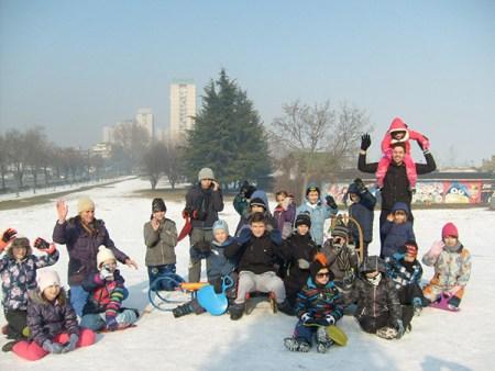 Снежне активности деце Свете Србије