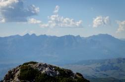 Bosnian mountain Malgic seen from top of Planinica