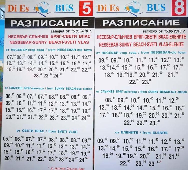 Расписание автобусов Святой Влас