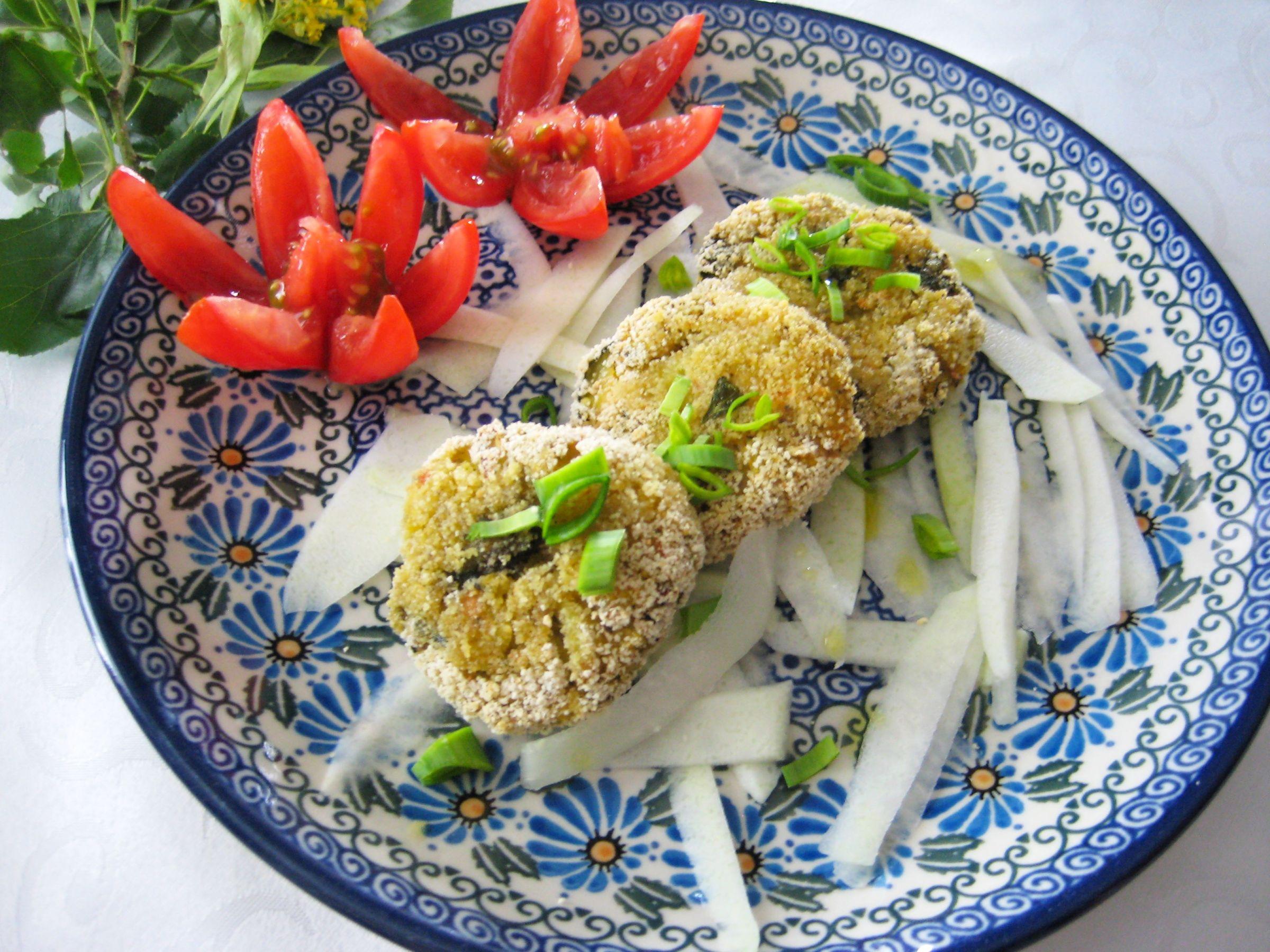 Vegane Hirse-Gemüselaibchen aus dem Backofen