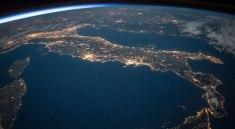 Itálie z ISS