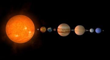 sluneční soustava s plutem