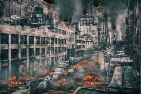 Apokalyptická vize vpředstavě grafika