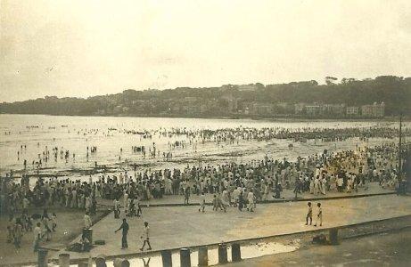 Pláž Chowpatty vroce 1950
