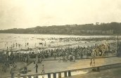 Pláž Chowpatty v roce 1950