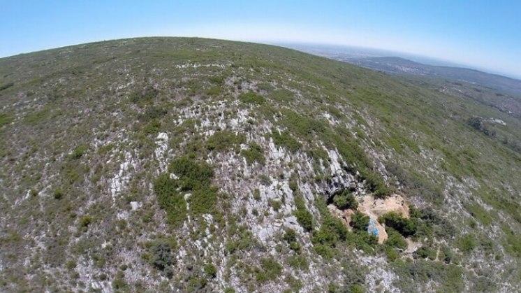 Pohled na jeskyni Lapa do Picareiro