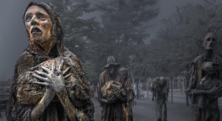 památník obětem hladomoru v Dublinu