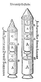 Návrh rakety podle Johanna Schmidlapa