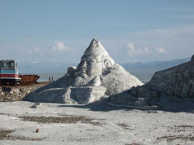 Težba soli na jezeře Chaka