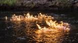 Hořící řeka v Austrálii