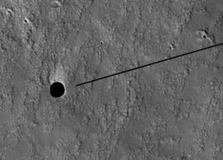Detekovaná jeskyně na Marsu