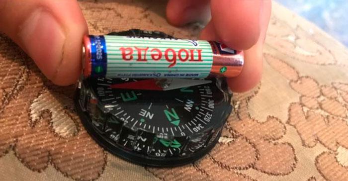 Ελέγξτε την πυξίδα της μπαταρίας