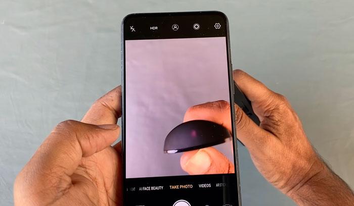 Ελέγξτε το τηλεχειριστήριο σε μια φωτογραφική μηχανή smartphone