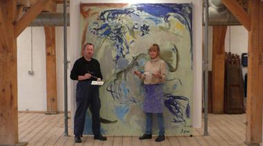 Konservering af Asger Jorns billede til Cobraudstilling i 2008