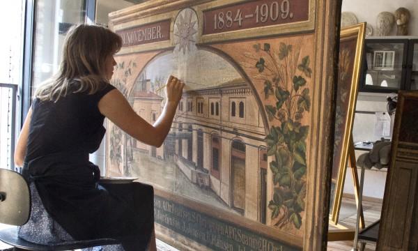 Lin Spaabæk: Konservering af jubilæumsmalerier fra Carlsberg