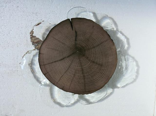 Dele i metal og træ til glasobjekter