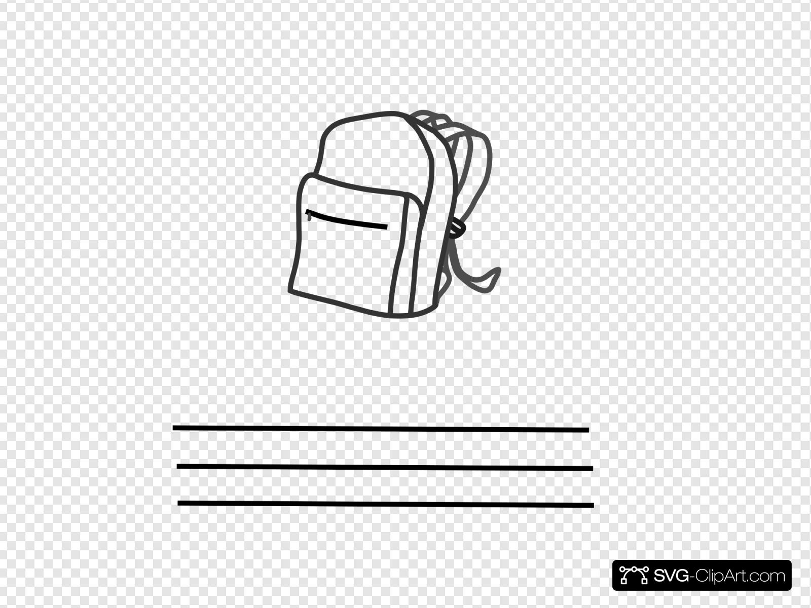 In My Backpack Svg Vector In My Backpack Clip Art