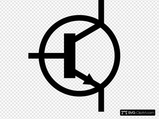 Npn Transistor Symbol Svg Vector Npn Transistor Symbol