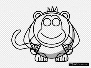 Cartoon Monkey Outline Svg Vector Cartoon Monkey Outline Clip Art Svg Clipart
