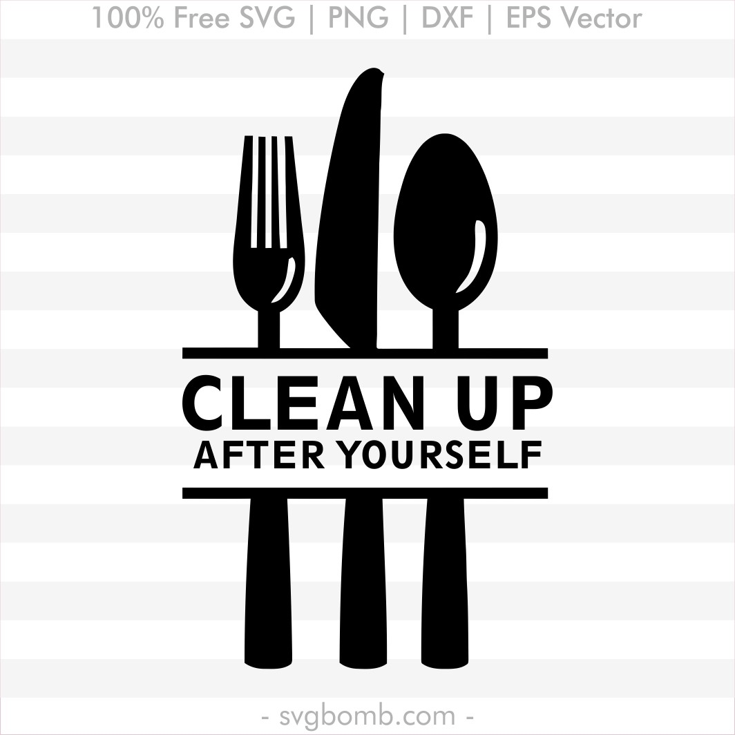 Download Free Kitchen SVG: Clean Up | SVGbomb.com