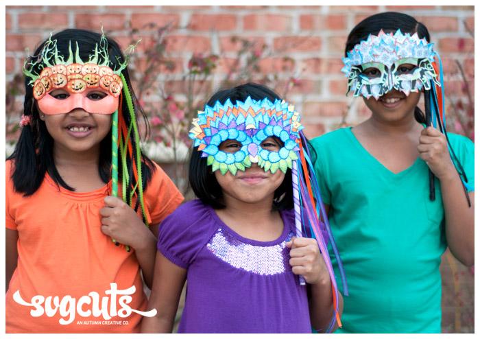 Masquerade Ball Masks By Fleurette F Bloom  SVGCutscom Blog